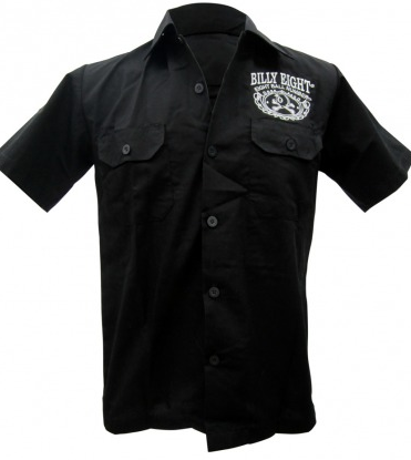 Deuce Day Embroidered Mens Work Shirt - Wicked Rockabilly & Gifts - 2
