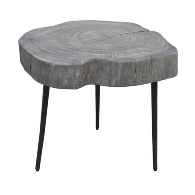 ORGANIC TRUNK SIDE TABLE - RUSTIC GREY - Showhome Furniture