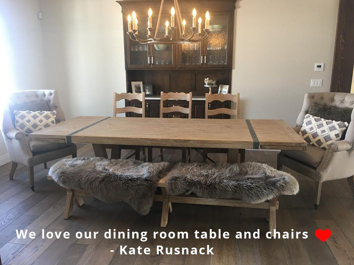 "Large Extension Dining Table (72""/96"") - African Dusk - Showhome Furniture"