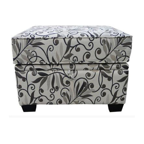Fabric Ottoman with thick cushion