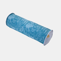 JUNGLE CYLINDER CUSHION <br> PAGODA BLUE