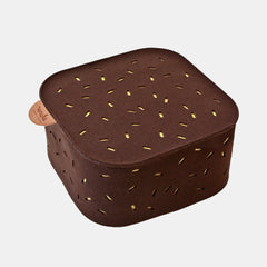 CAPSULE POUF <br> CHOCO BROWN / HONEY