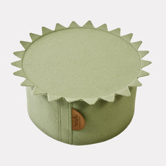 DRAGON POUF <br> MOSS GREEN