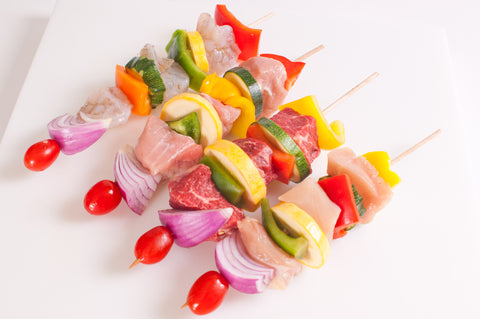 Shrimp Kabobs $9.99lb Approximately 2 Kabobs