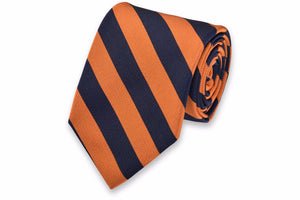 All American Stripe Necktie - Orange and Navy