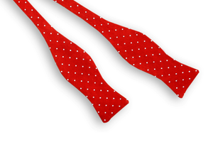 Red Woven Dot Bow Tie