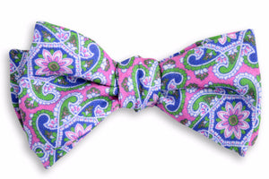 Pink Derby Paisley Bow Tie