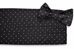 Black Dot Cummerbund Set