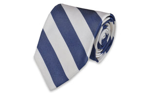 Classic Navy and White Stripe Necktie