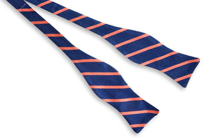 Sunday Brunch Stripe Bow Tie - Coral