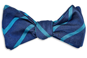 Sunday Brunch Stripe Bow Tie - Teal