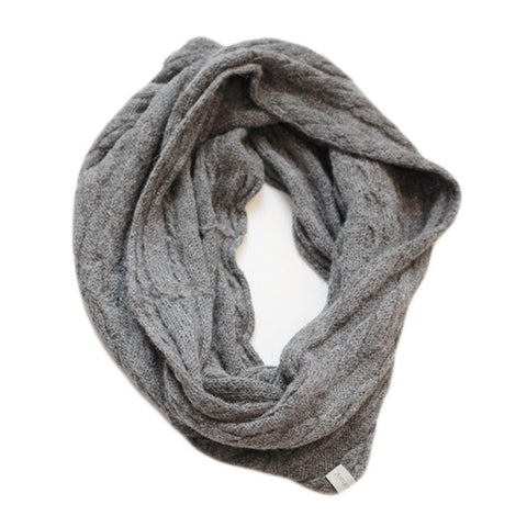 Amayi Cable Loop Snood - Charcoal 1