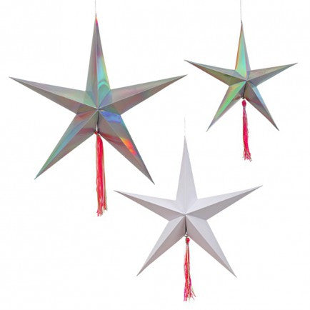 Shooting Star Decoration (Set of 3)