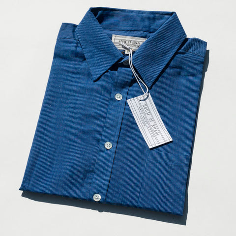 Blue Stripe Luxury Khadi Cotton Shirt