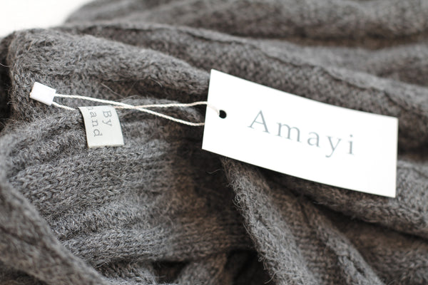 Amayi Cable Loop Snood - Charcoal 2