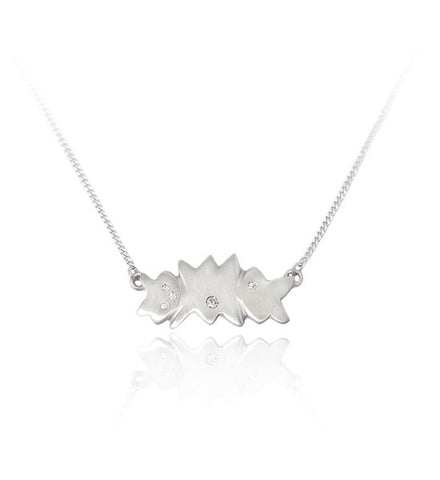 Asterism pendant (Fairtrade White Gold)