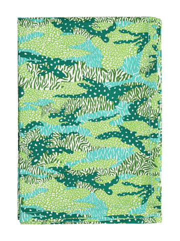 Safomasi Green Foliage Big Cat Camo Table Cloth. Discover the Indian print collection at The Good Place.