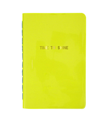 Time to Shine Yellow Notebook