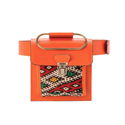 Aziza Belt & Clutch Bag - Mango Brown