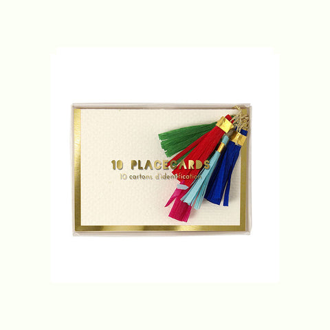 Coloured Tassel Place Cards