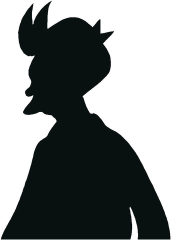 Fry's Silhouette Decal