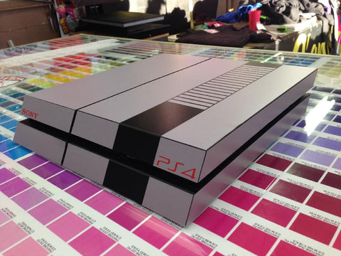 Newest PS4 NES NINTENDO FULL Wrap Skin