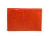 Cooper Cardholder - Lizard - Orange