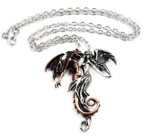 Chemical Wedding Angel and Demon Alchemy Gothic Necklace