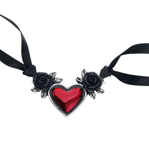 Alchemy Gothic Blood Heart Pendant Necklace