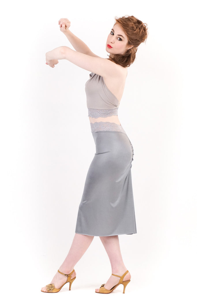 sea moss ruched skirt