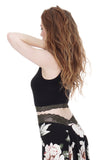 inky rib knit & forest lace tank - Poema Tango Clothes: handmade luxury clothing for Argentine tango