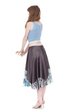 lotus & cloud ruffle silk skirt - Poema Tango Clothes: handmade luxury clothing for Argentine tango