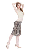 snake scale ruched skirt - Poema Tango Clothes: handmade luxury clothing for Argentine tango
