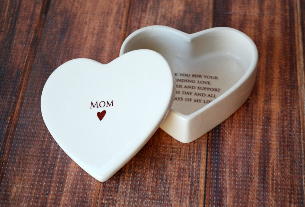 Mother of the Bride Gift - Mom Heart Box- SHIPS FAST - Keepsake Box - With Gift Box