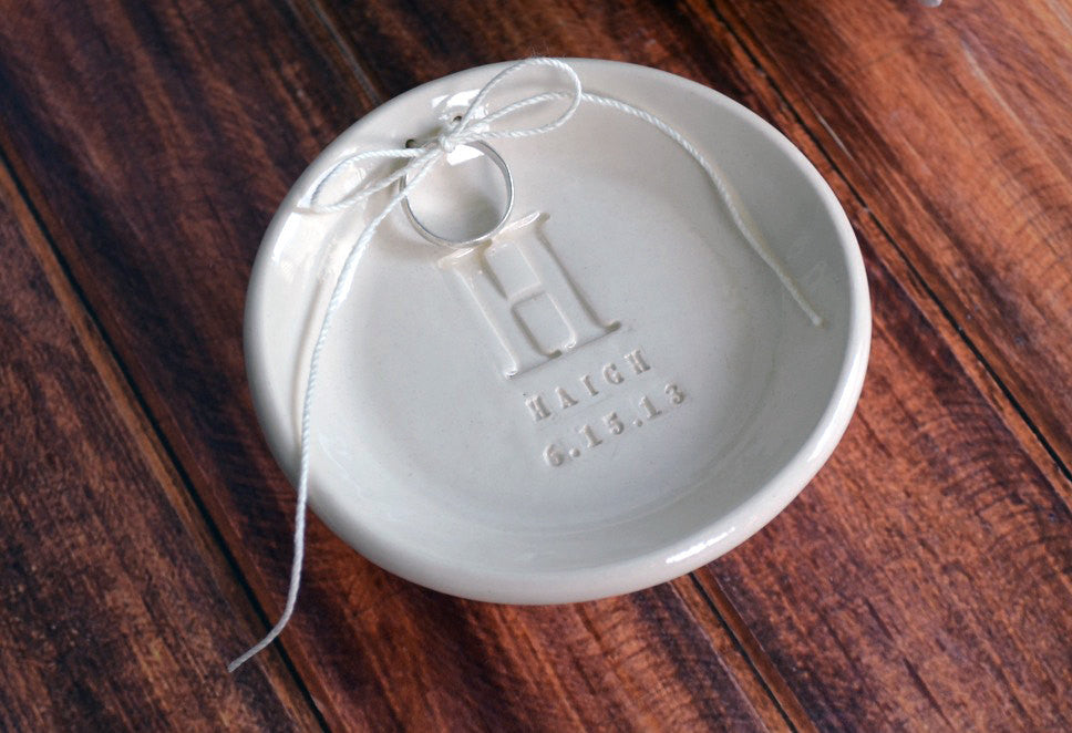 Custom Round Ring Bearer Bowl - Gift Bagged & Ready to Give