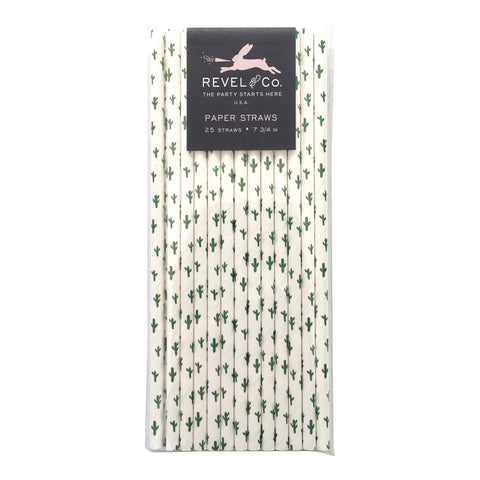 Revel & Co. Cactus Paper Straws