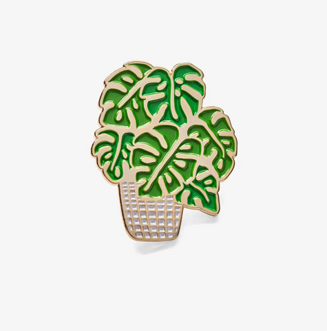 The Good Twin Monstera Pin