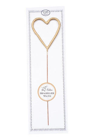 Tops Malibu Big Golden Sparkler Wand Heart