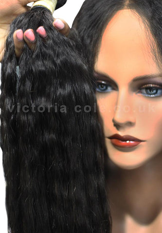 "Mongolian Kinky Straight 26"" Virgin Hair Extensions - 12A"