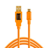 Tether Tools TetherPro USB 2.0 A Male to Micro-B 5-pin 15'  (4.6m) - Orange
