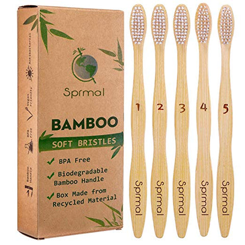 Sprmal Bamboo Toothbrushes