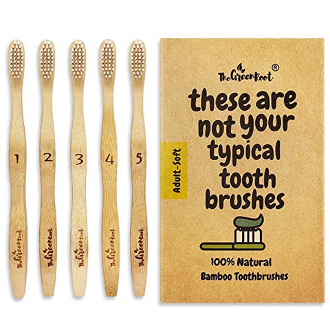 The Green Root Bamboo Toothbrushes
