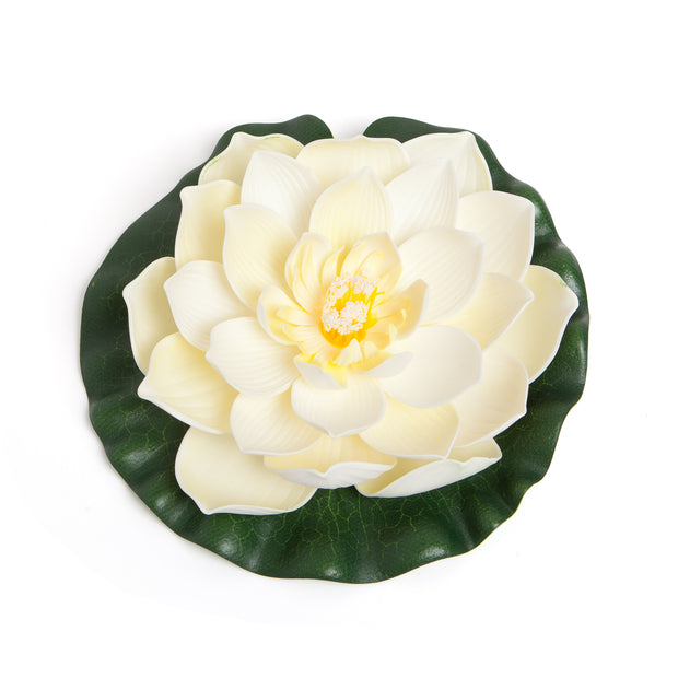 BEST FLOATING FLOWERS SET of 6 for Weddings - Water Features - Large - 8 1/2 Inch Each (White)