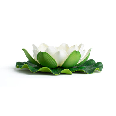 Best Floating Flowers Set of 6 -  Medium White - 5 1/2 Inch Each