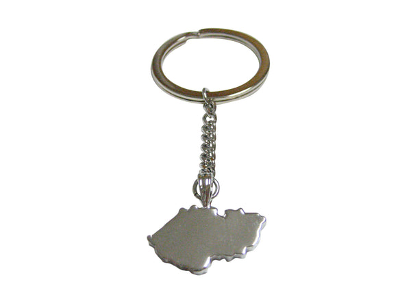 Czech Republic Czechia Map Shape Pendant Keychain