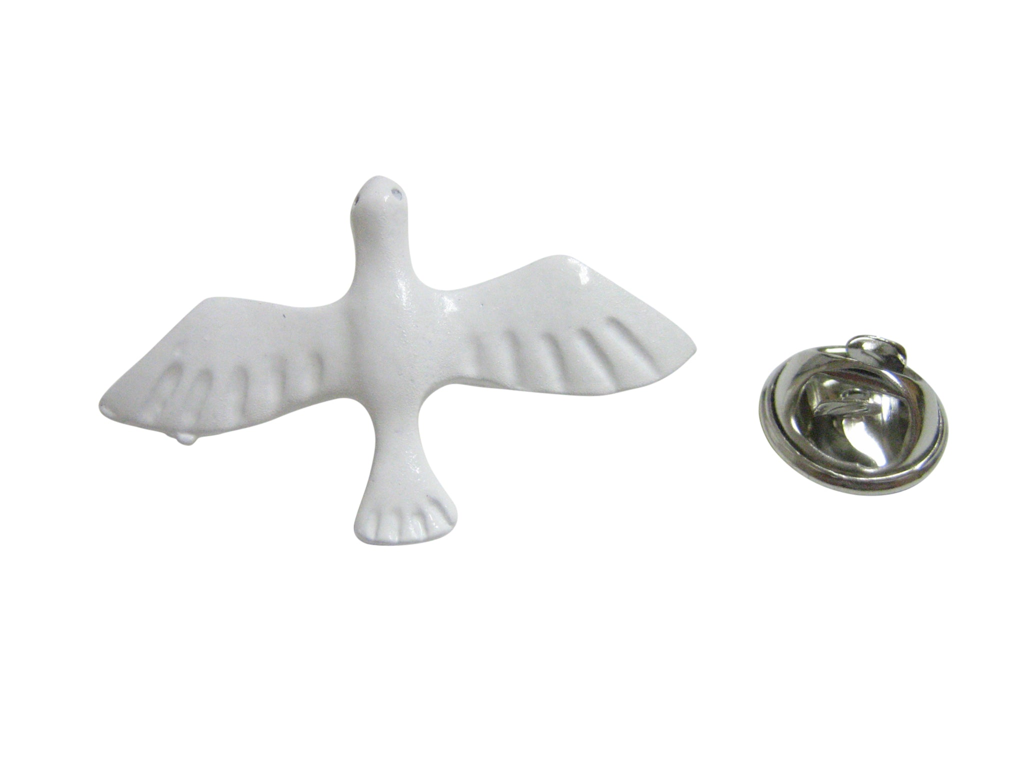 White Dove Bird Pendant Lapel Pin