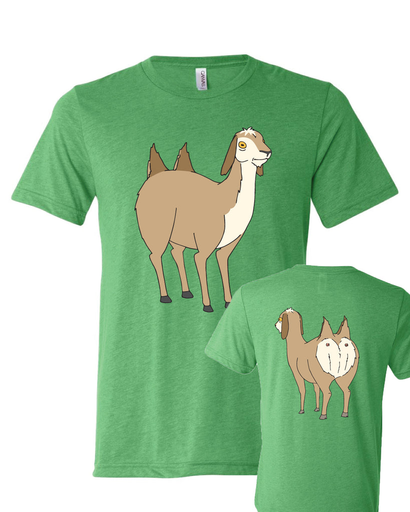 2019 SDCC Bob's Burgers two butted goat tee (green triblend) - (con pickup only)