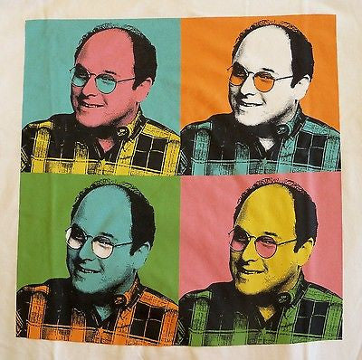 BustedTees T-Shirt - George Costanza Pop Art - Seinfeld - Adult
