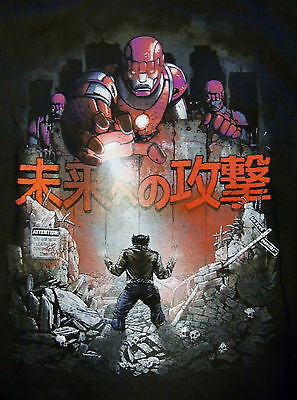 TeeFury T-Shirt - X-Men Wolverine Attack Titan - New Adult XL