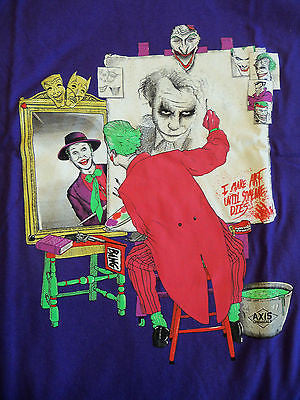 - TeeFury Graphic Tee - T-Shirt - Batman Joker Self Portrait - Adult L Purple